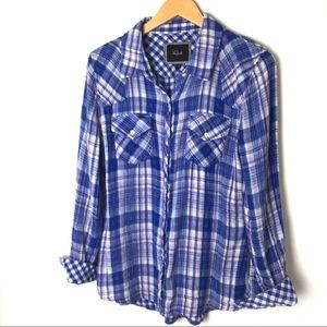 Rails Super soft button down plaid shirt J3
